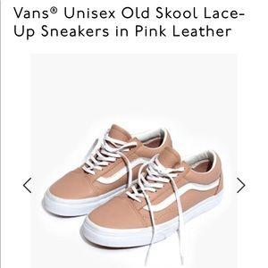 Vans Old Skool Pink Leather Sneaker size 9.5